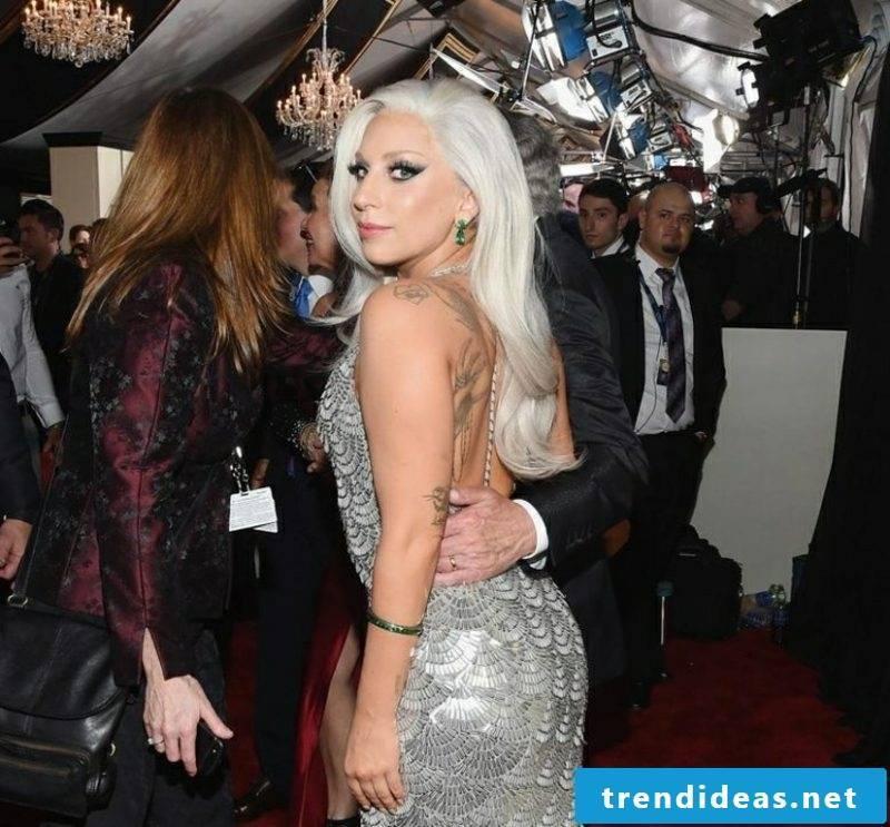 white hair Lady Gaga