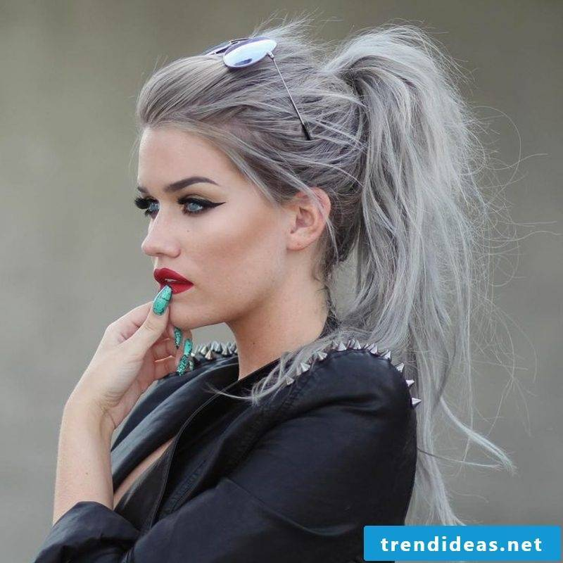 Hair colors gray new trends