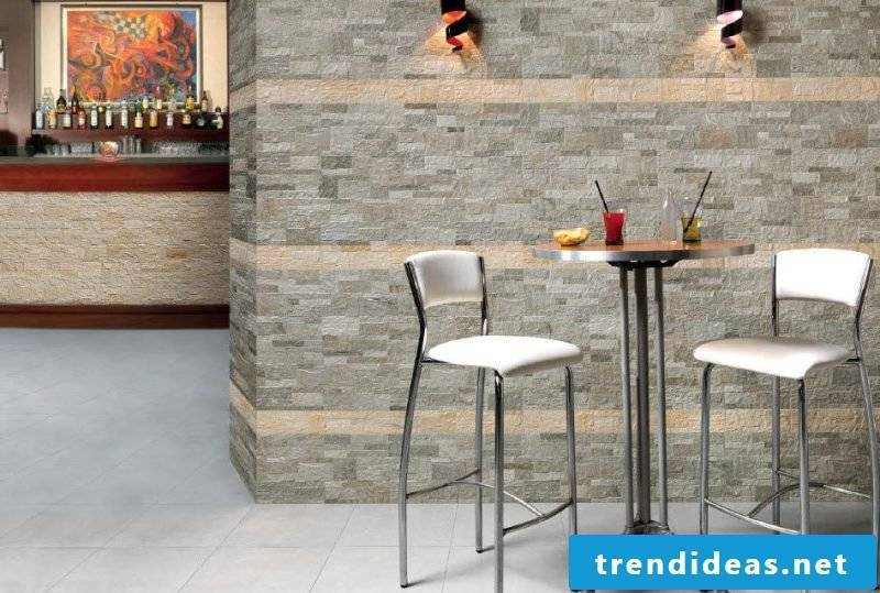 Creative idea with wall panels with stone look