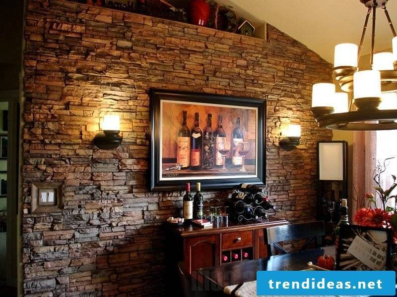 Create country style with wall panels with stone look