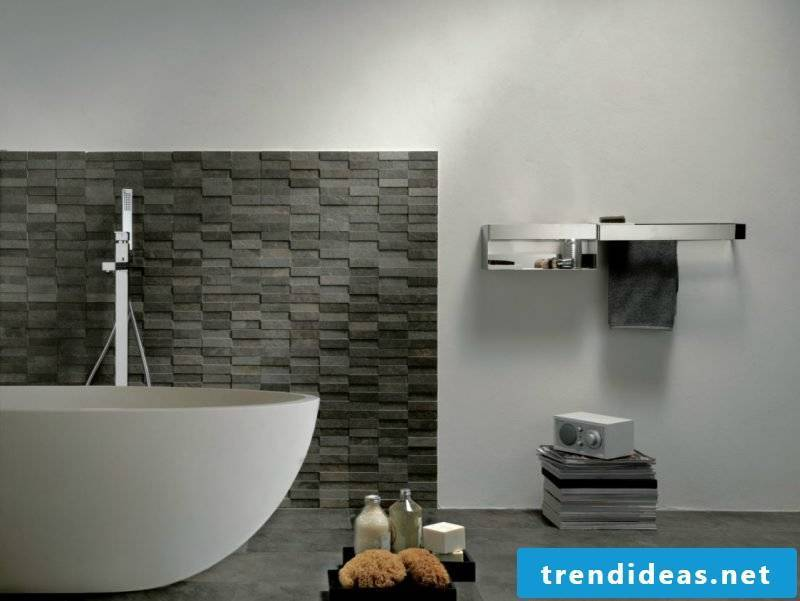 Wall panels with stone look in black color