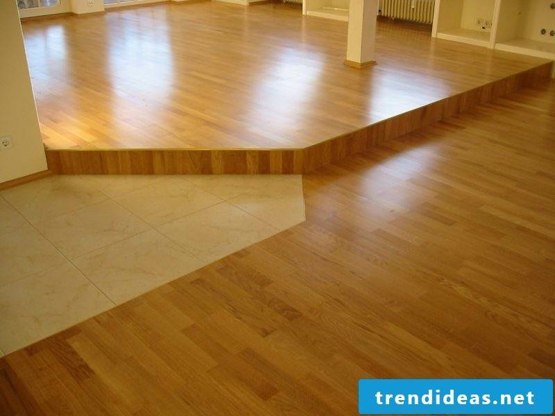 parquet and teracott mixture