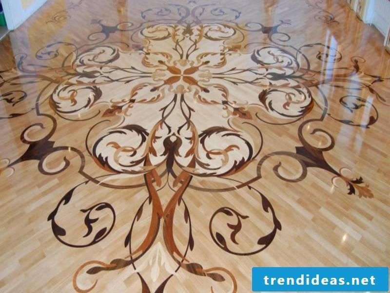 beautiful shapes in the parquet decoration