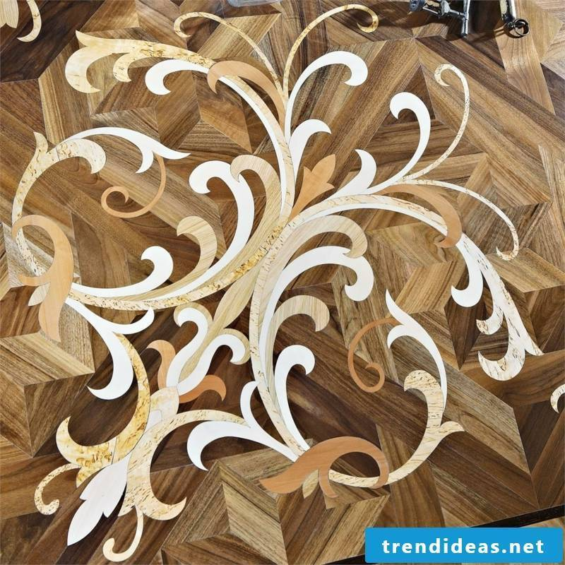 white wood decoration on the floor