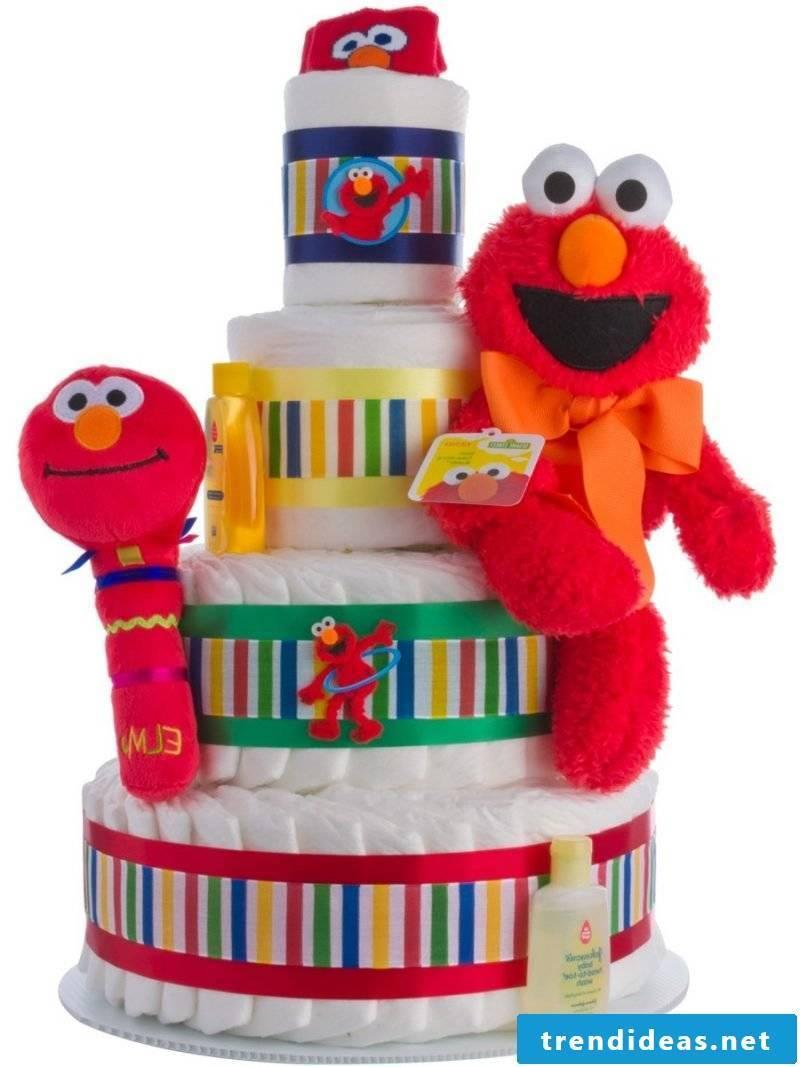Instructions diaper cake idea