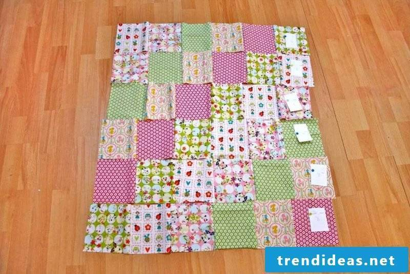 Patchwork blanket sew DIY project