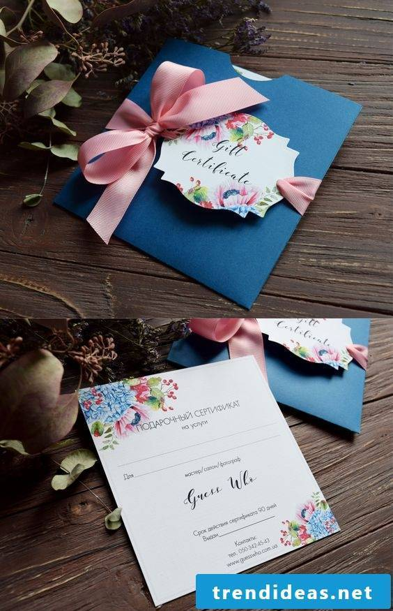DIY wedding gift - coupon packaging