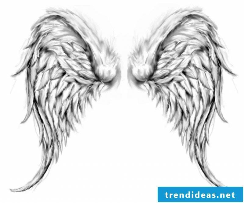 Angel wings templates creative idea