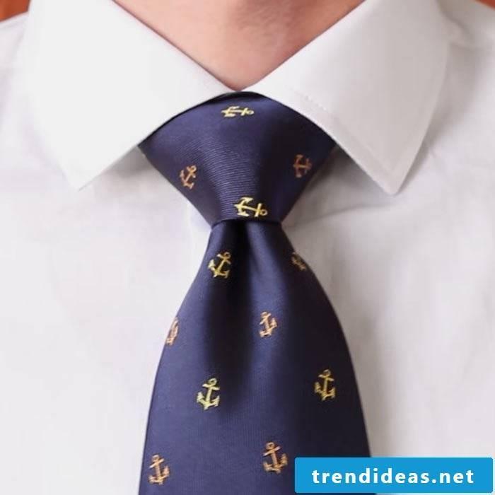 Double Windsor knot tie