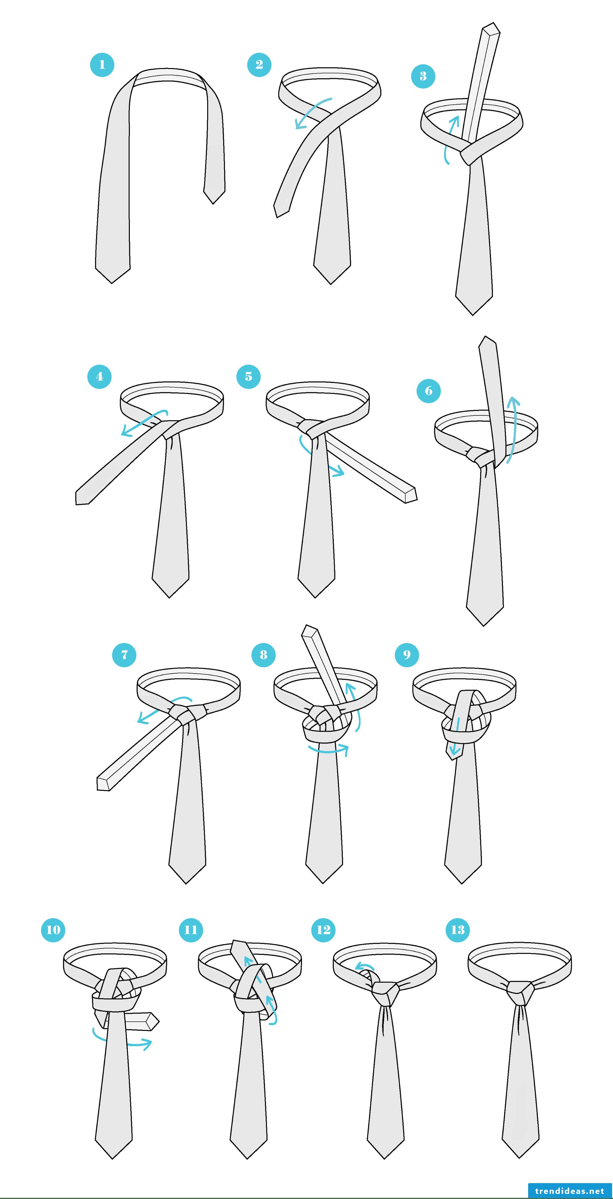How do I tie a tie with Trinity knots?