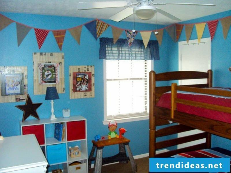 modern bright blue color in the nursery