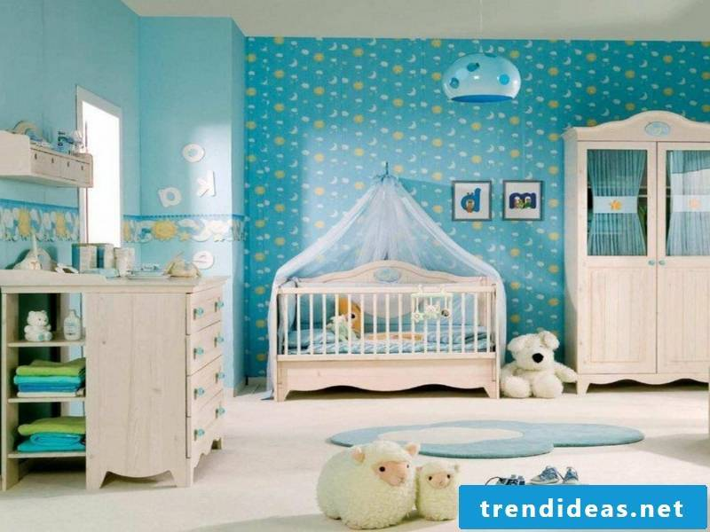 small beautiful baby room in blue