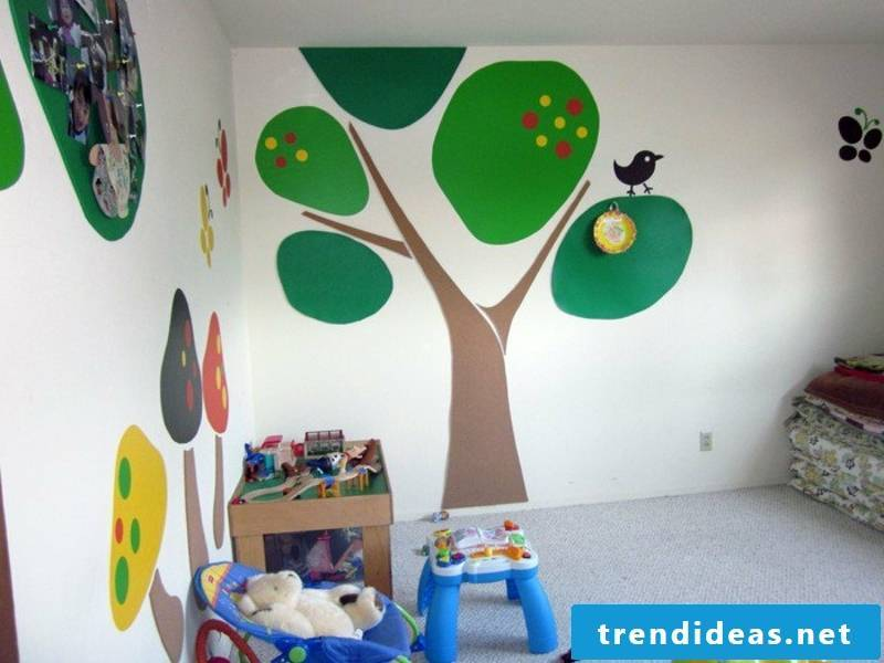 green paintings on the wall green colors on the wall in the nursery