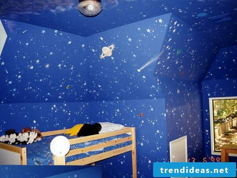 blue wall painting in kinderyimmer7