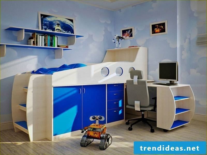 beautiful blue boy's room