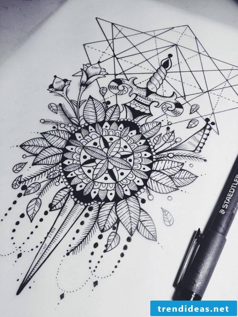 Mandala tattoo template