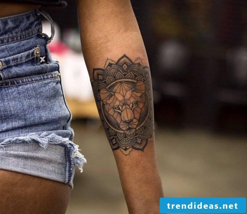 Mandala tattoo hand women