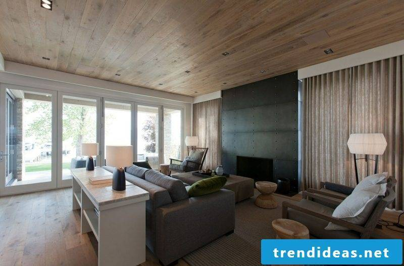 The wooden ceiling the perfect Deckengestaltungliving