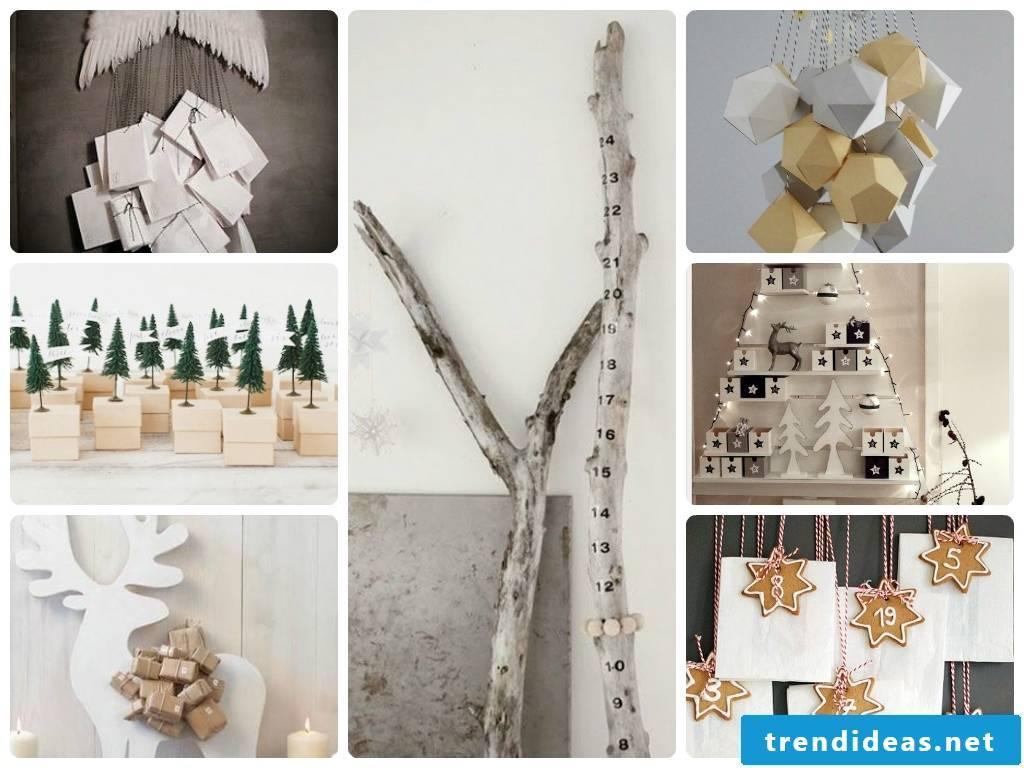 Make advent calendars yourself - some creative ideas