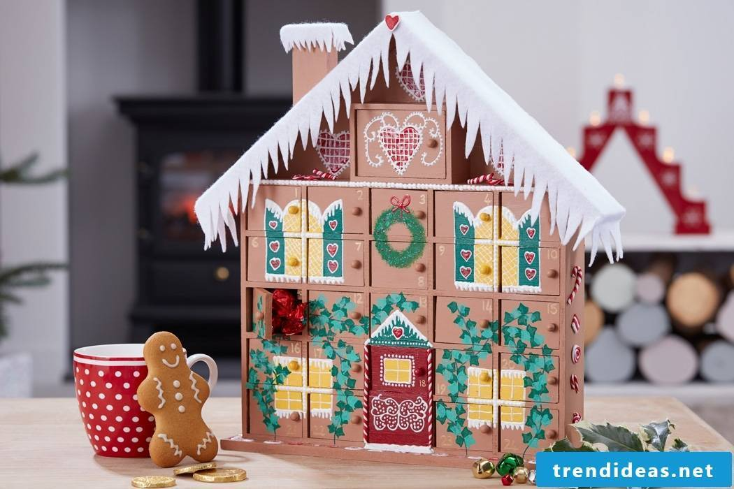 Tinker advent calendar yourself - sweet little house with surprises