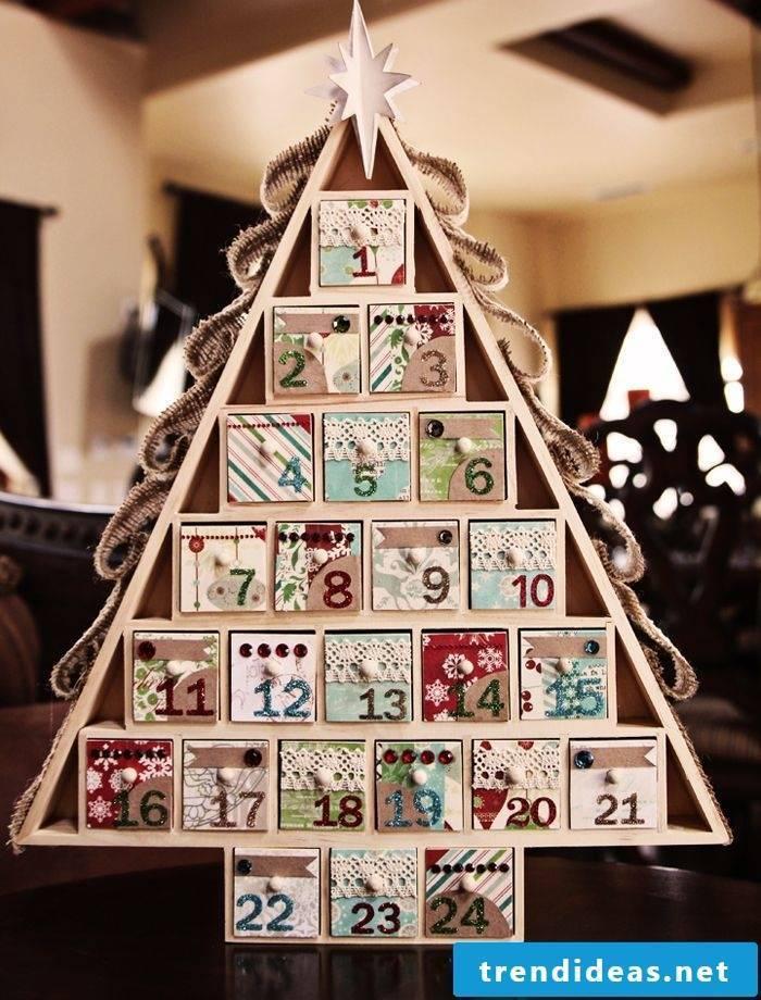 Advent calendar in fir tree shape