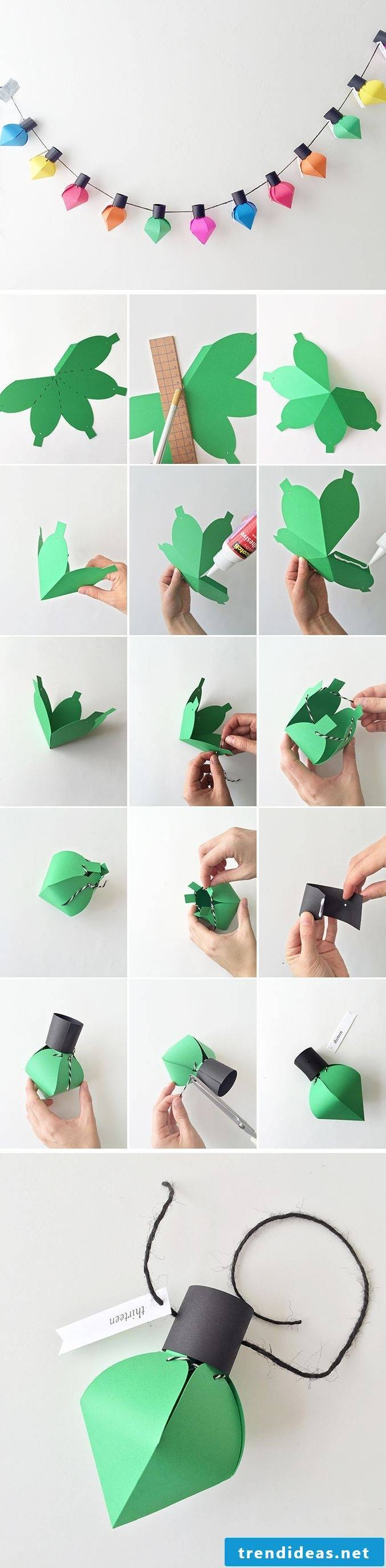 Make advent calendars yourself Instructions and template for cutting