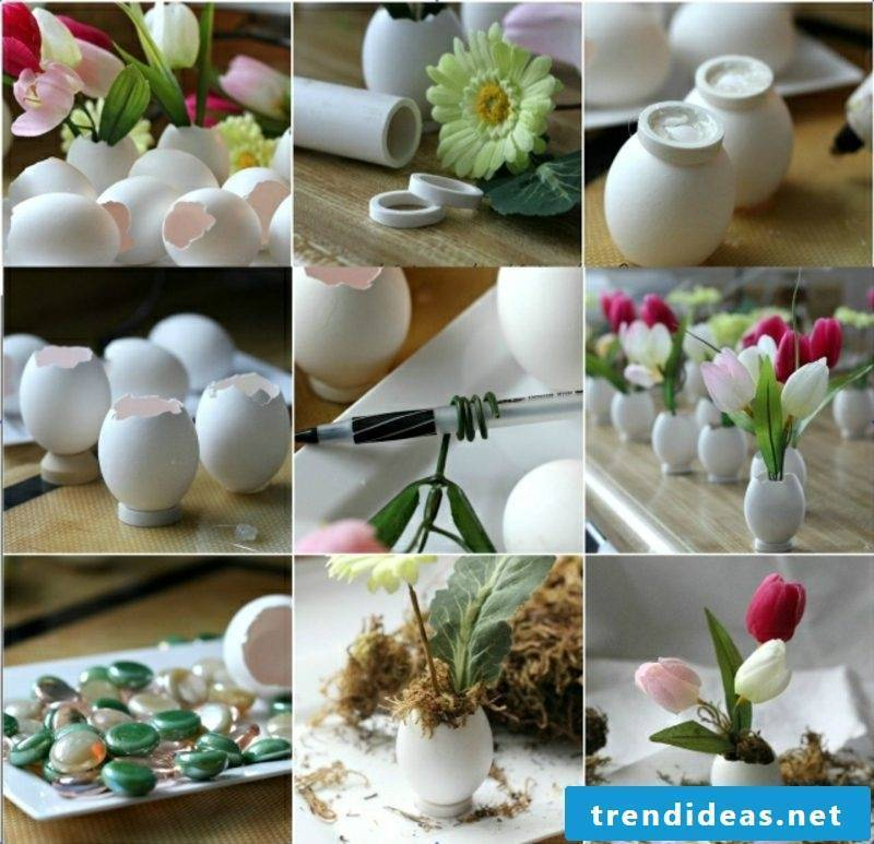 Easter decoration ideas with eggshells
