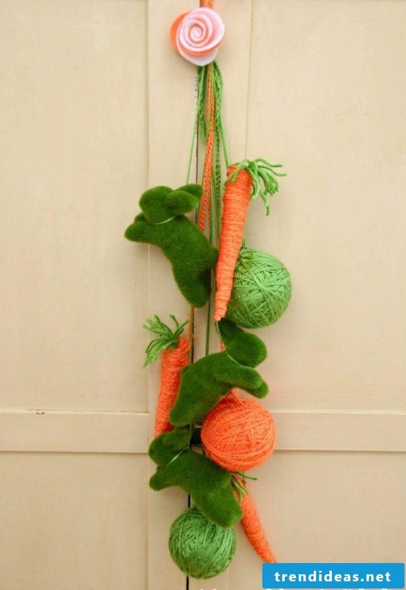 Easter decoration make house entrance