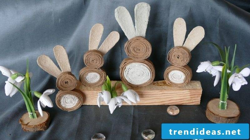 Easter decorations make quilling