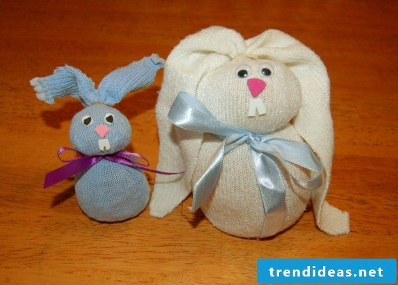 Easter decoration Bunnies from old socks