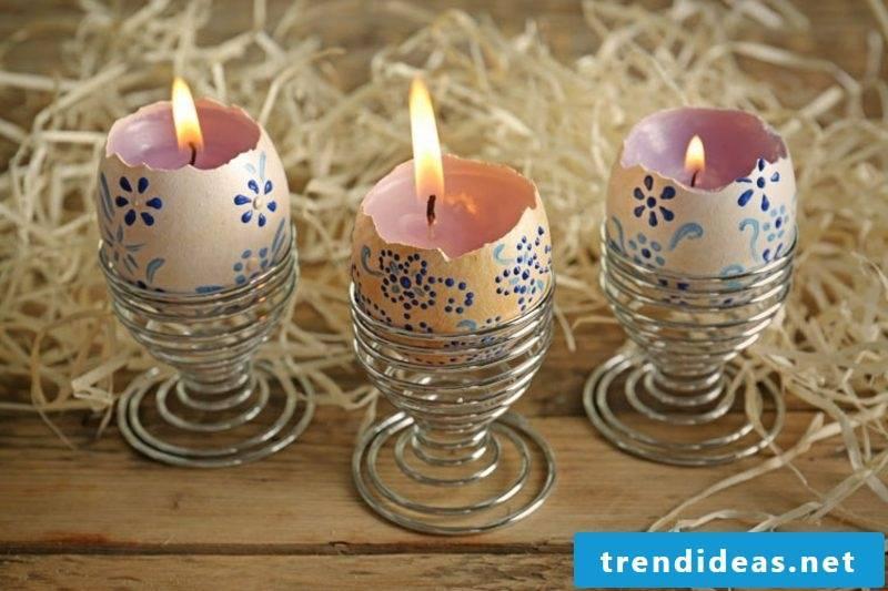 Easter decoration candle holder