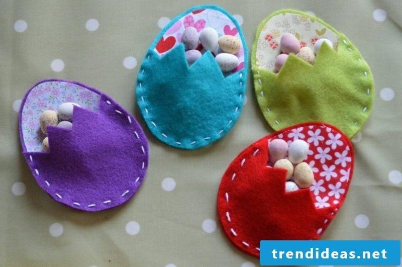 Easter decoration made of felt