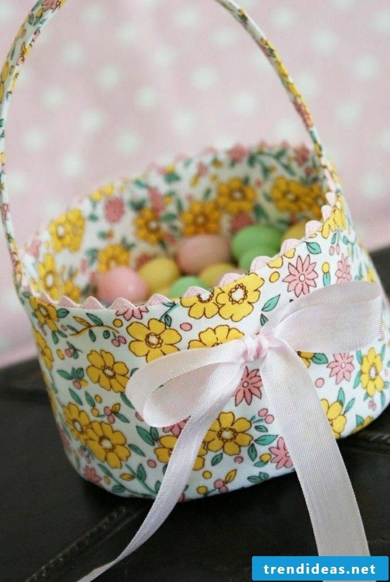 Easter decoration fabric basket
