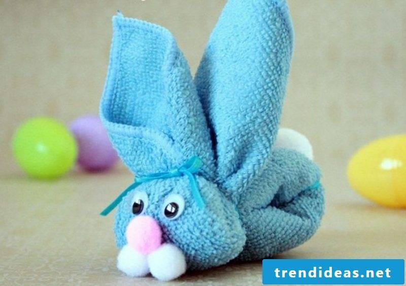 Easter presents are making bunny out of a towel