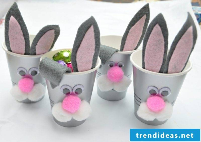 Easter presents are made by cute rabbits