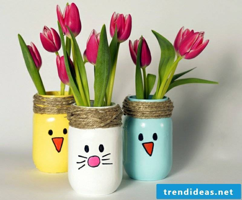 Easter presents make vases