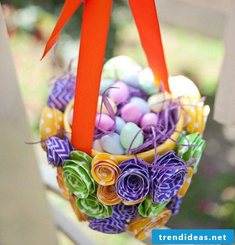 Easter presents tinker with Easter basket