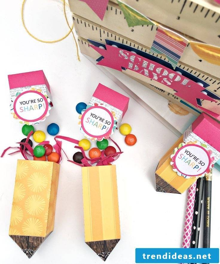 Another creative idea for pencils full of sweets