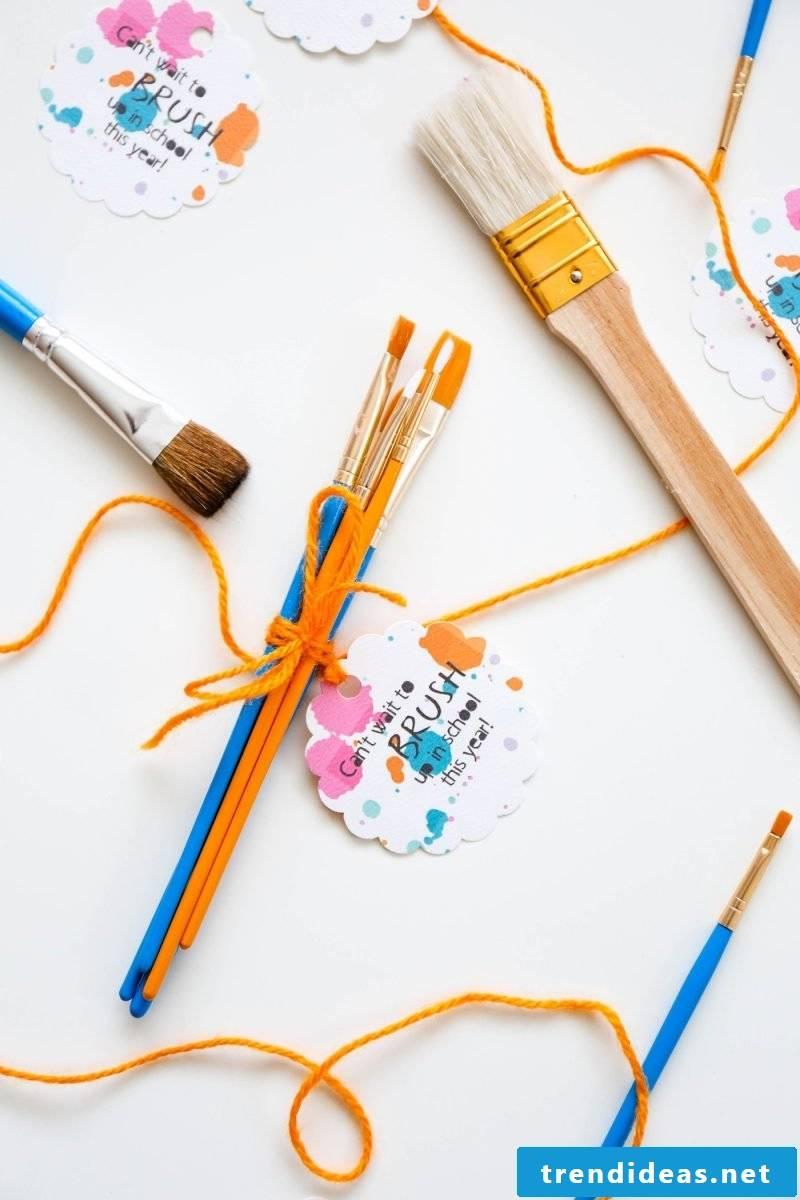 Creative packaging for school enrollment