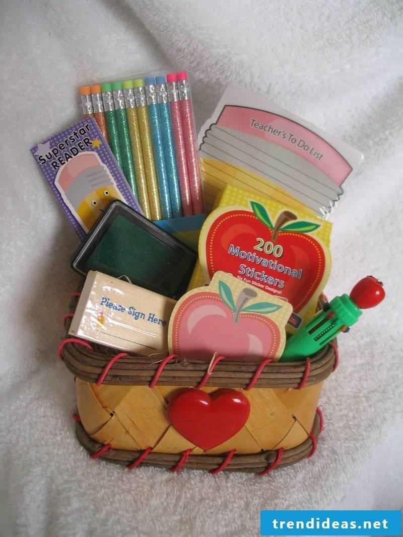 DIY gifts for school enrollment