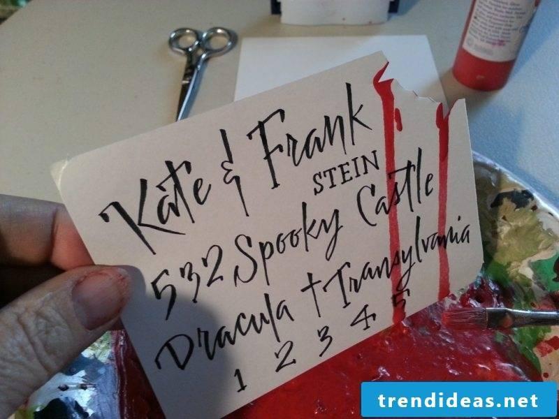 Halloween invitation horror ideas