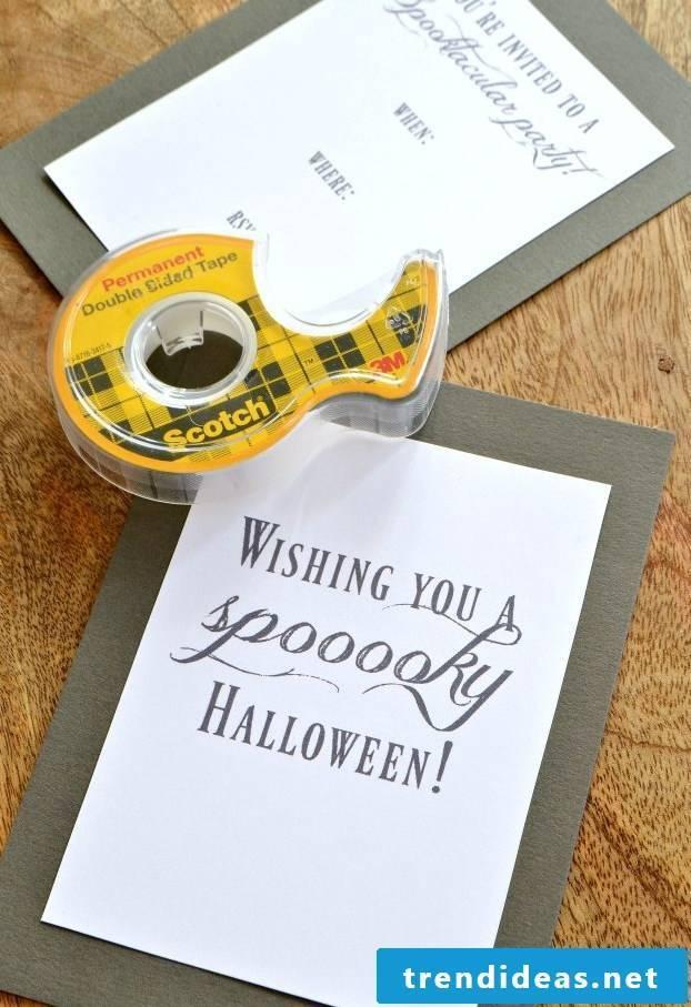 Tinker Halloween invitation