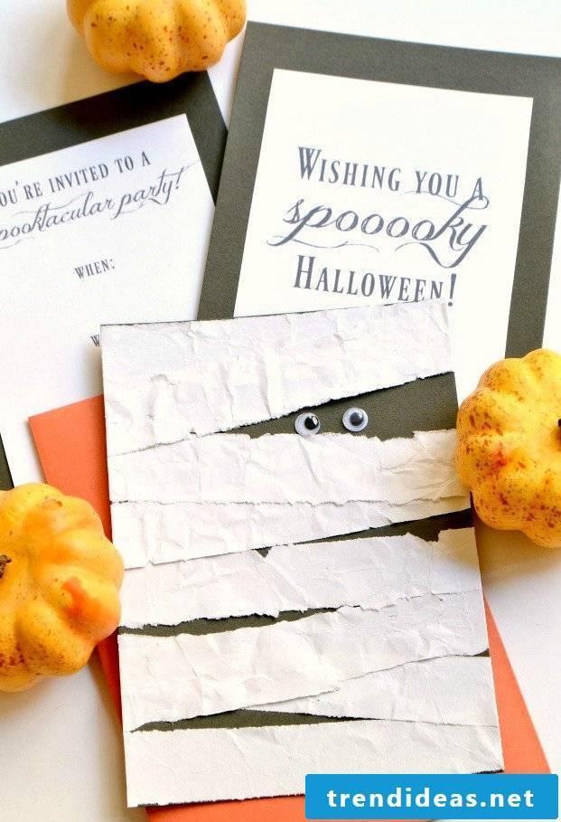 Halloween invitation DIY instructions
