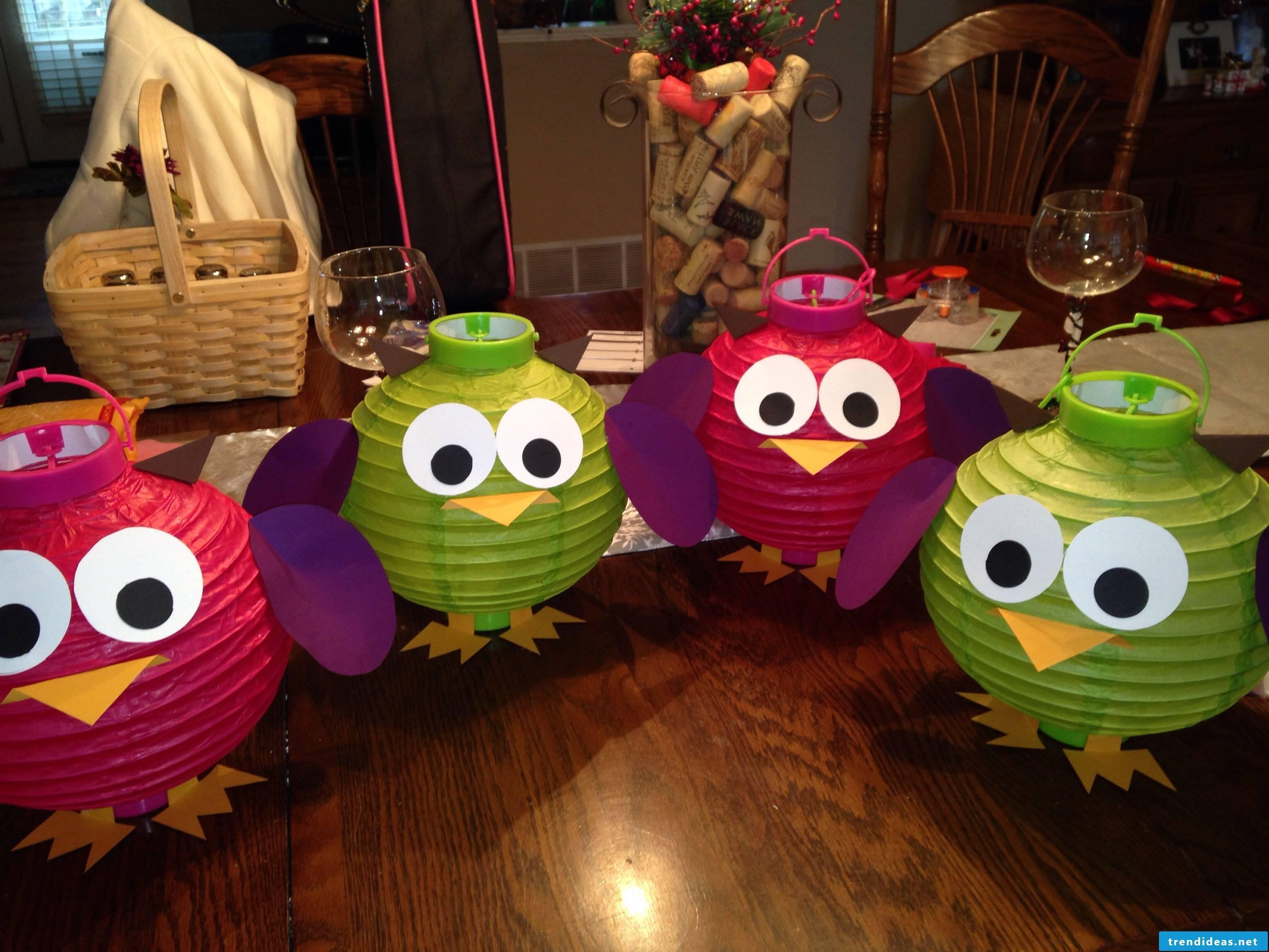 Owl lantern a great craft idea