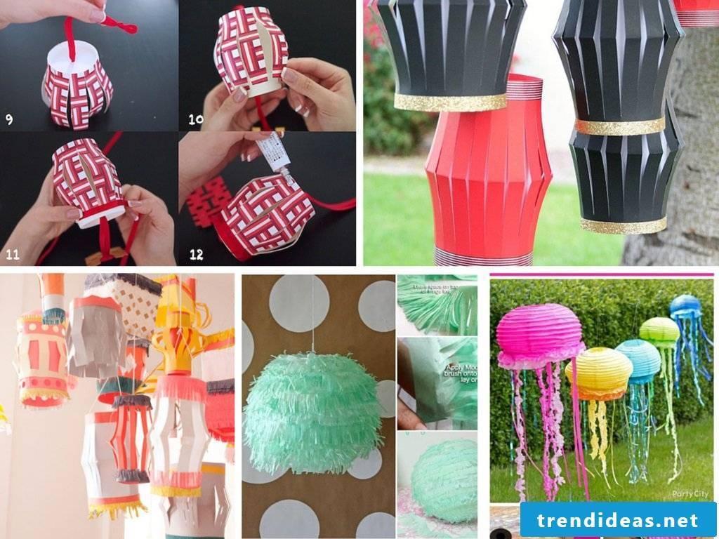 DIY paper lanterns - different ideas