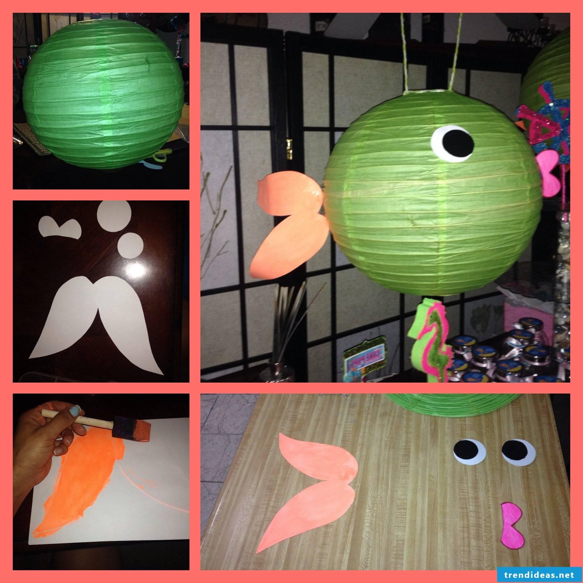 Make fish lantern