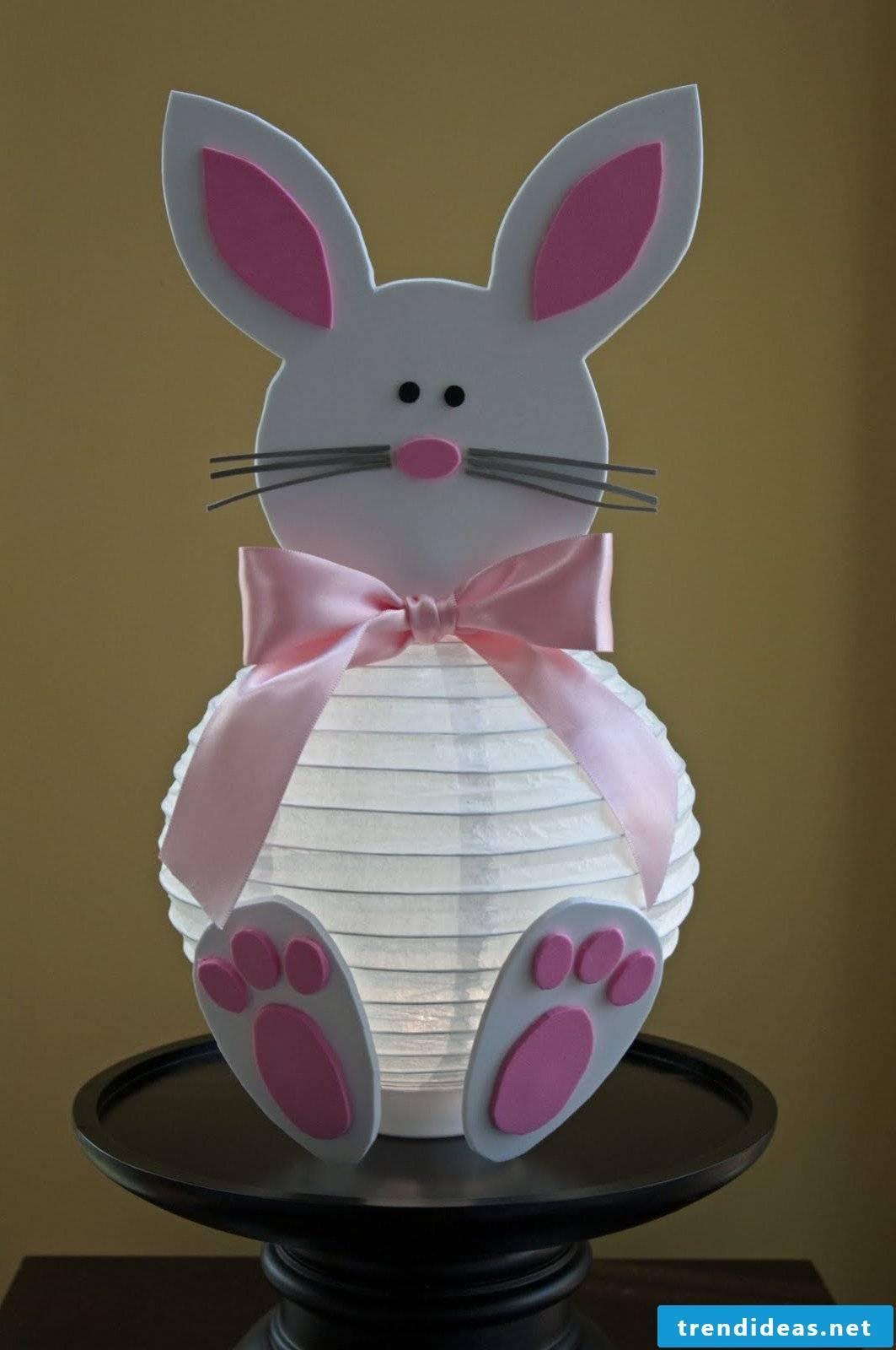 Making lantern for children - a cute bunny