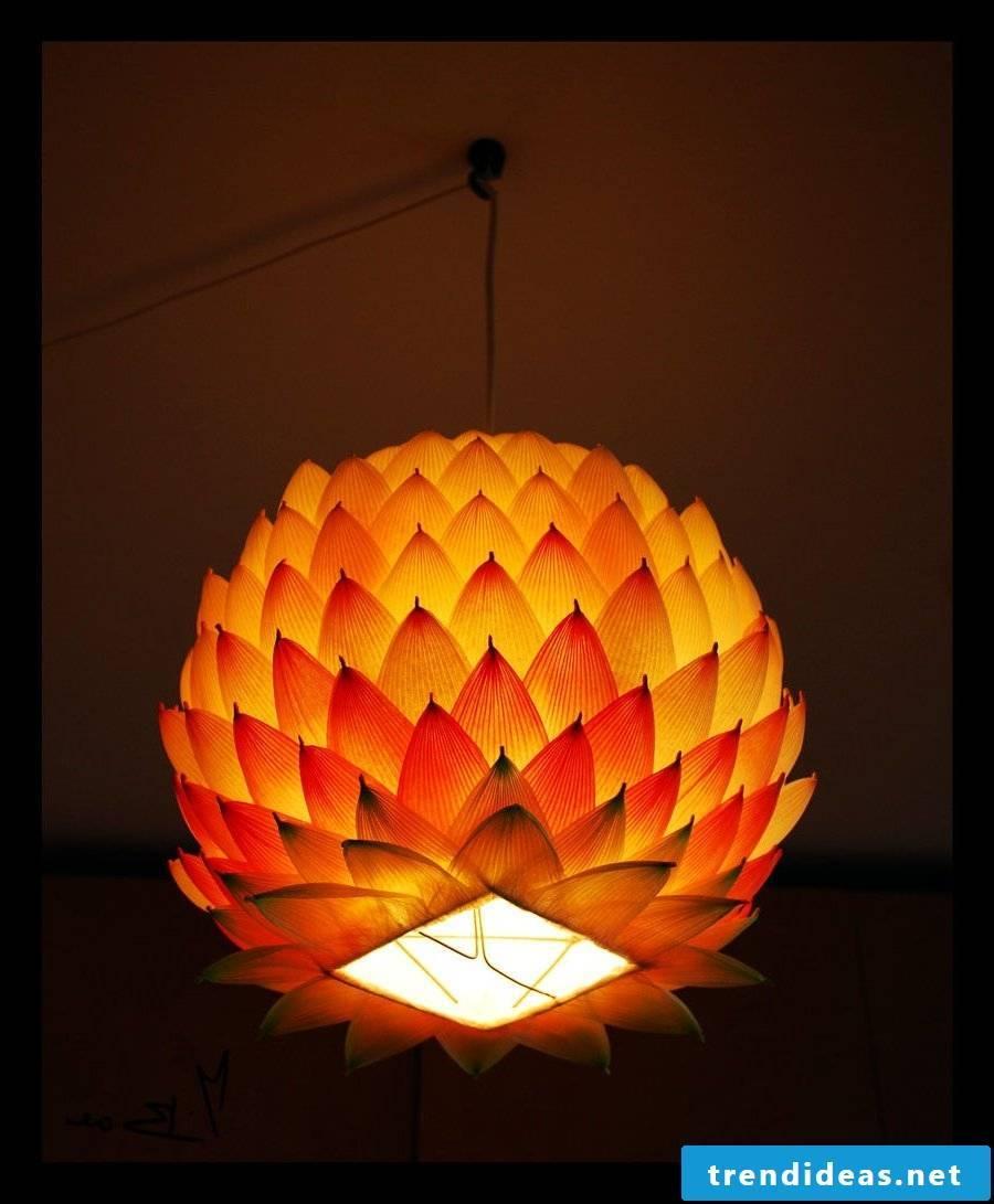 Make lanterns with decorative paper