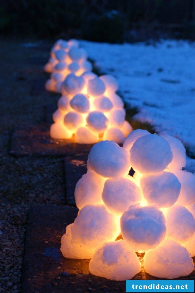 From snow can also be made a lantern