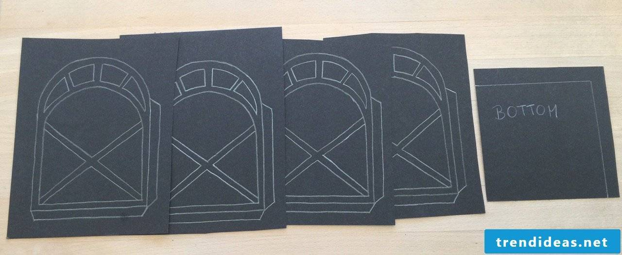 Make Paper Lantern Step 1
